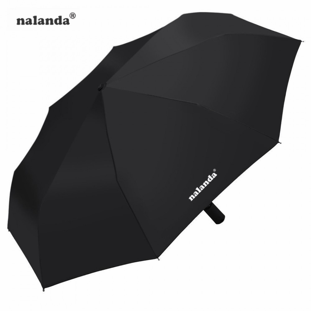 Nalanda Automatic Folding Umbrella For Travel & Business Auto Open And Close With Windproof Frame - Black