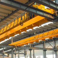 High Quality Workshop Used LH Electric Double Girder Bridge Crane 16 t /3.2 t