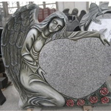 Traditional Single Angel Heart Monuments with Various Color Selection
