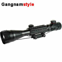 Gangnamstyle Rifle Scope 3-9x40 Hunting Scope Red Green Illuminated Reticle with Mil-Dot Telescopic Sight