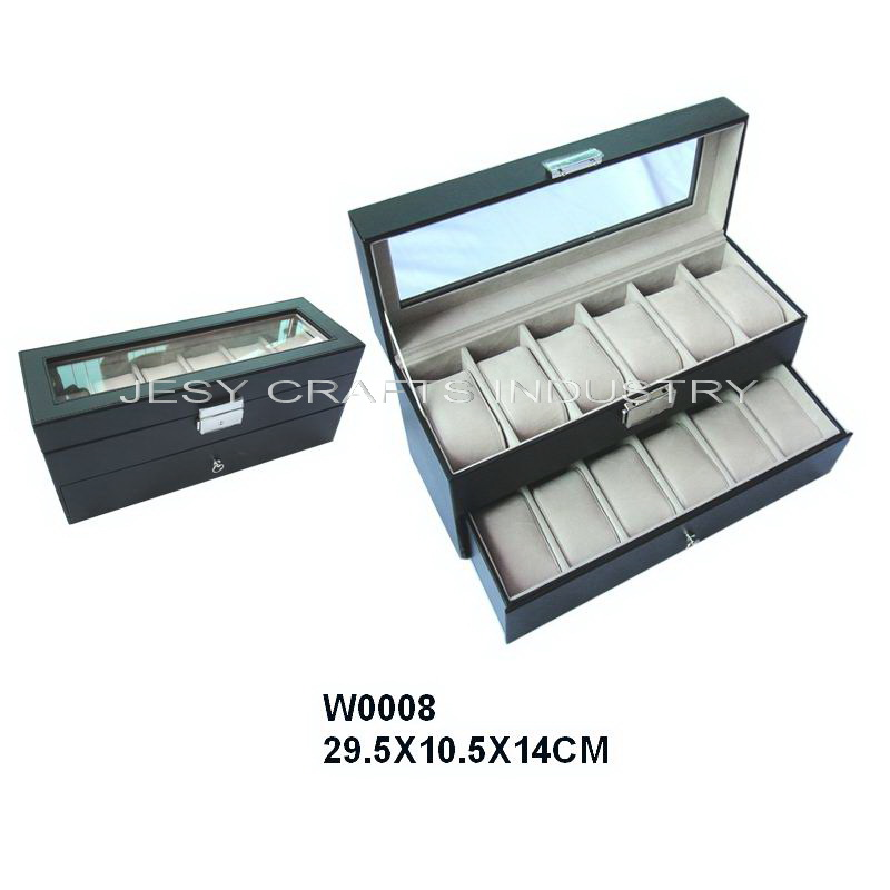Double layer Watch display box(W008)